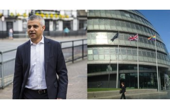 Primarul musulman al Londrei a arborat steagul LGBT pe Primarie