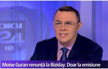 Moise Guran a explicat de ce a renuntat la emisiunea Biziday