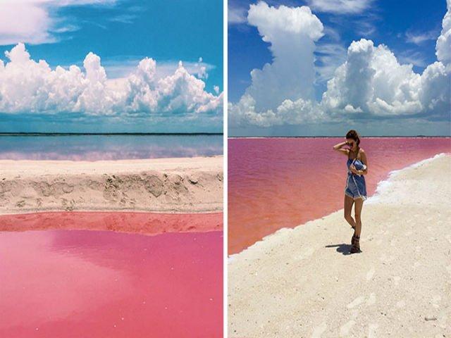 [FOTO] Probabil cel mai frumos loc de pe Pamant. Cum arata Laguna Roz din Mexic