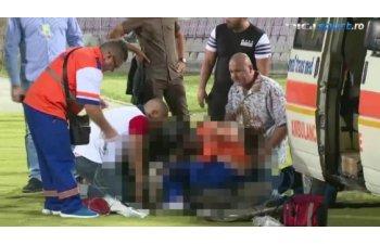 Fanul timisorean care a facut infarct in tribuna, a murit la spital