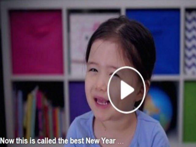 [VIDEO] Cel mai frumos mesaj de Anul Nou, transmis de o fetita de 4 ani
