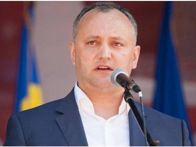 Igor Dodon cere retragerea ambasadorului moldovean de la Bucuresti
