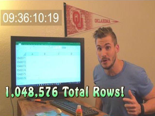 [VIDEO] A dat scroll 9 ore pentru a ajunge la finalul unei pagini Excel