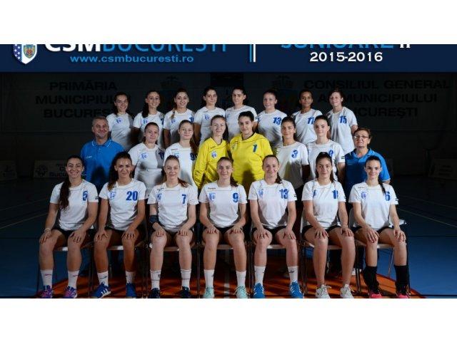 Echipa feminina CSM Bucuresti a castigat al treilea titlu consecutiv de campioana a Romaniei la handbal