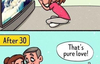 10 ilustratii care arata cum se schimba viata unei femei dupa 30 de ani