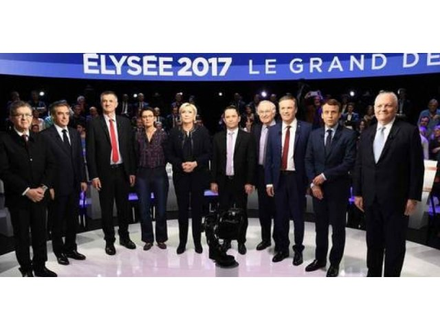 Reactia candidatilor la presedintia Frantei dupa ce au aflat, in direct, despre atac