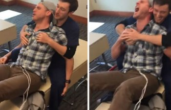 [VIDEO] Cum reactioneaza un barbat la durerile nasterii
