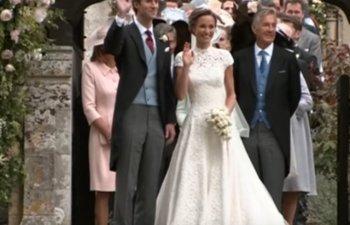 [Video] Nunta Pippei Middleton: Rochie de mireasa spectaculoasa, invitati de marca. George si Charlotte, vedetele evenimentului