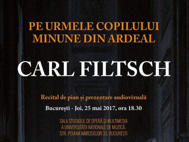 """Spectacolul """"Pe urmele copilului minune din Ardeal, Carl Filtsch"""", la Universitatea Nationala de Muzica"""