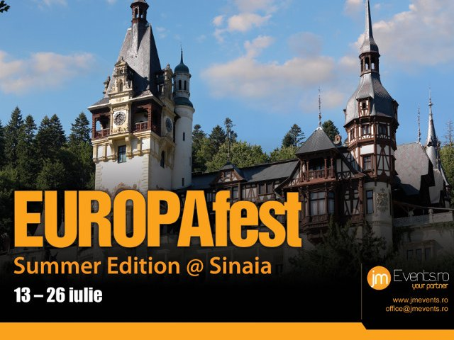 Start EUROPAfest Summer Edition – Sinaia, 13 - 26 iulie