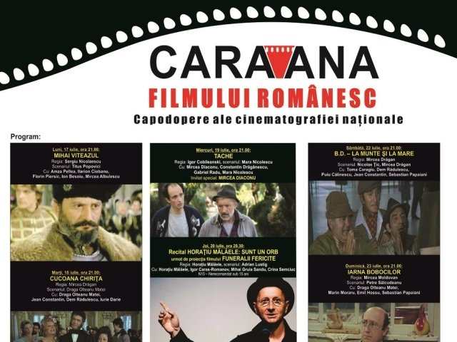 """""""Caravana filmului romanesc"""" revine la Amara,  impreuna cu Mircea Diaconu si Horatiu Malaele"""