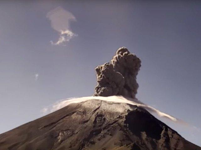 Vulcanul Popocatepetl a erupt pentru a patra oara in decurs de 24 de ore