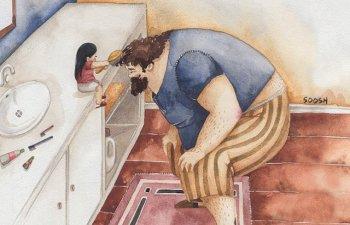 10+ ilustratii creative care reflecta dragostea nemarginita dintre tata si fiica lui