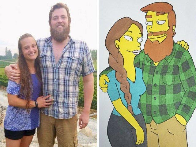 [FOTO] Cel mai dragut cadou: Un artist si-a desenat iubita in 10 ipostaze diferite