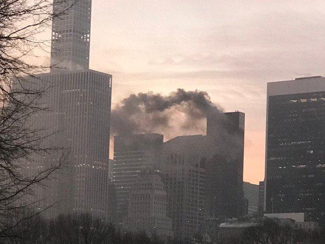 Una dintre cladirile lui Donald Trump, din New York, a luat foc