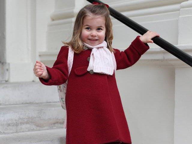 Imagini unice cu Printesa Charlotte, in prima zi de gradinita