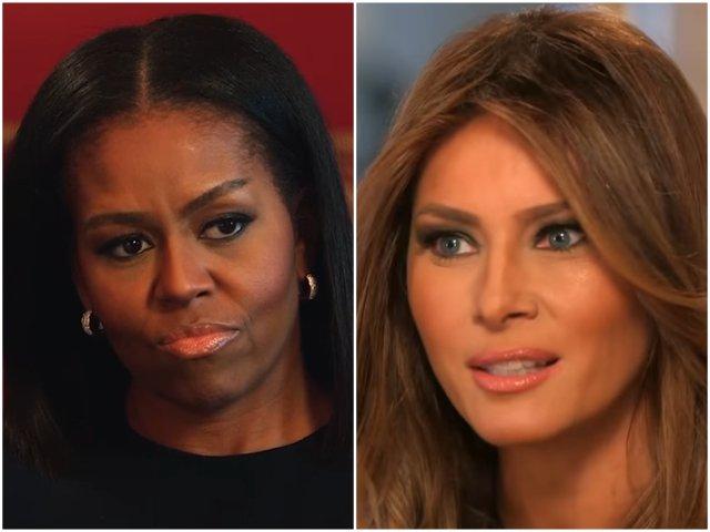 Michelle Obama a dezvaluit ce se afla in pachetul primit de la Melania Trump la ceremonia de investire / VIDEO