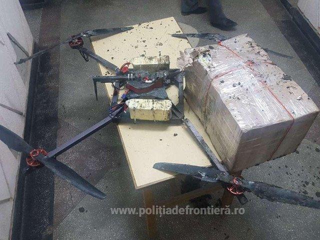 12.500 de tigari moldovenesti, aduse in Romania cu drona