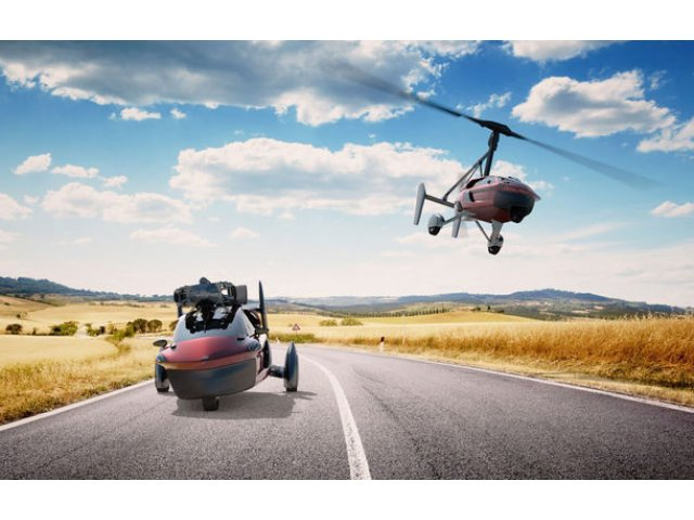 Prima masina zburatoare de serie a fost lansata oficial: Pal-V Liberty costa 300.000 de euro si poate calatori 500 de kilometri prin aer