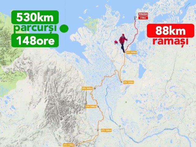 Tibi Useriu, la un pas de a castiga pentru a treia oara consecutiva ultramaratonul arctic