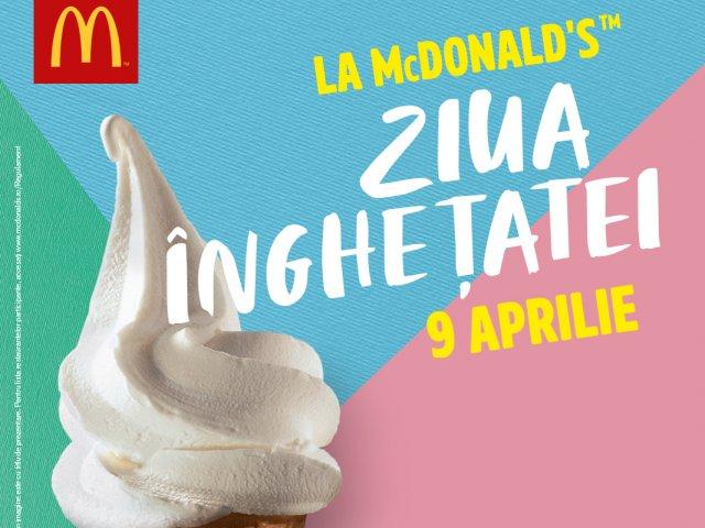 McDonald`s sarbatoreste si anul acesta Ziua Inghetatei, pe 9 aprilie