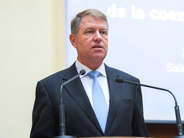 Klaus Iohannis va sustine o declaratie de presa la ora 18