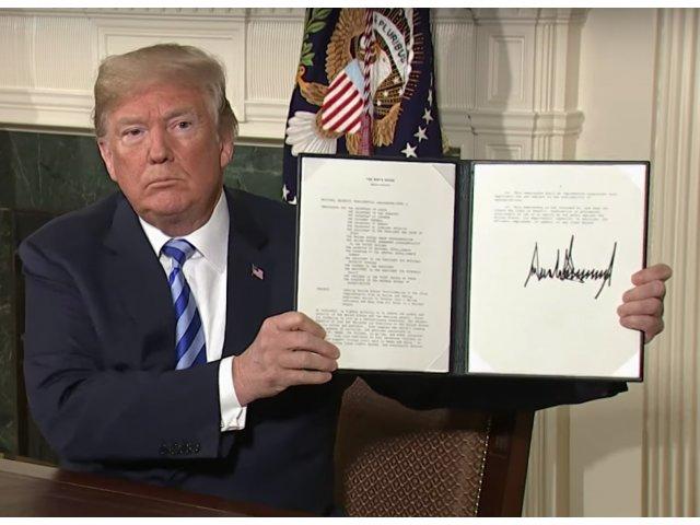 Donald Trump retrage SUA din acordul nuclear cu Iranul