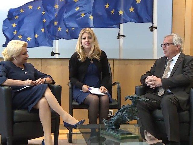 """Dancila i-a prezentat lui Juncker ultimele evolutii privind """"reforma si modificarile din sistemul judiciar"""""""