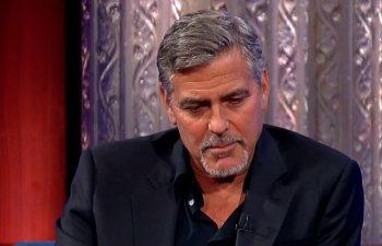 Momentul in care George Clooney a fost lovit de o masina, surprins de o camera de supraveghere/ VIDEO