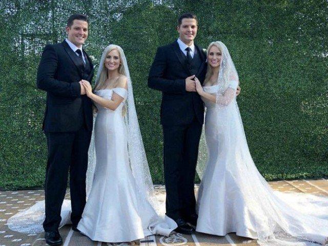 Nunta ca-n povesti: frati gemeni s-au casatorit cu surori gemene