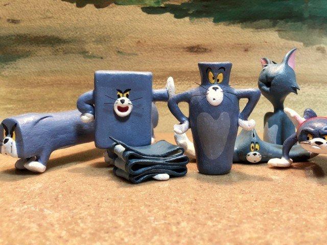 """Un artist japonez a transformat in sculpturi cele mai amuzante momente din """"Tom si Jerry"""""""