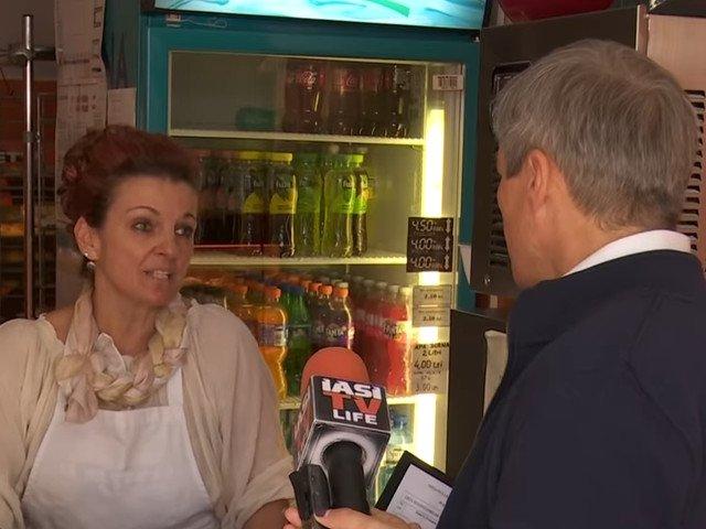 Proprietara unei patiserii, catre Dacian Ciolos: Niciodata nu voi mai merge la vot. Gata, ca eu pierd timpul si pierd clientii/ VIDEO