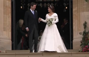 Printesa Eugenie, nepoata a reginei Elisabeta a II-a a Marii Britanii, s-a casatorit cu Jack Brooksbank/ VIDEO