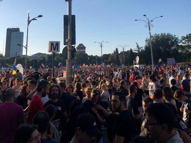 Sapte protestatari de la mitingul din 10 august au fost arestati preventiv pentru agresarea jandarmilor