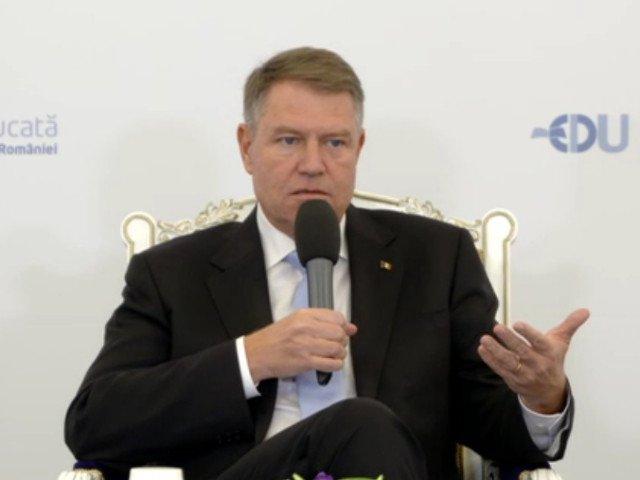 Klaus Iohannis: Eu m-am saturat de atatia penali si infractori in varful politicii/ VIDEO