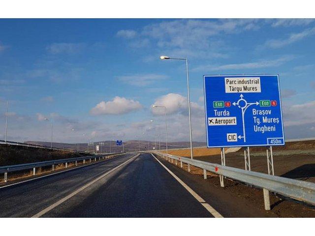 Romania are inca 13.7 kilometri de autostrada: a fost deschis traficul rutier pe ruta Ungheni - Ogra - Iernut de pe A3