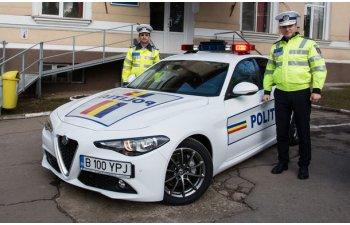Politia Rutiera Ilfov a primit un Alfa Romeo Giulia: modelul italian va patrula 12 luni pe autostrada A3, Drumul National 1 si Centura Bucurestiului