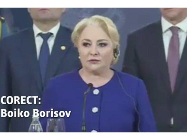 O noua gafa la nivel inalt. Viorica Dancila i-a gresit numele premierului Bulgariei