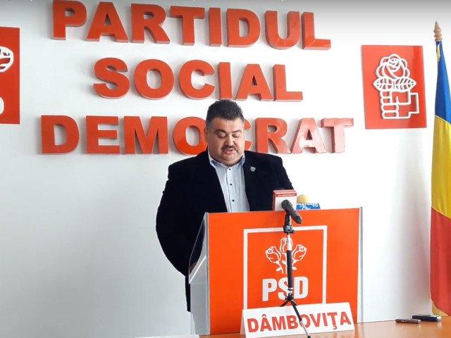 Presedintele CJ Dambovita, Daniel Comanescu, a fost exclus din PSD