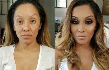 Puterea machiajului: 15+ transformari uimitoare ale unor femei care au trecut prin mainile unui make-up artist