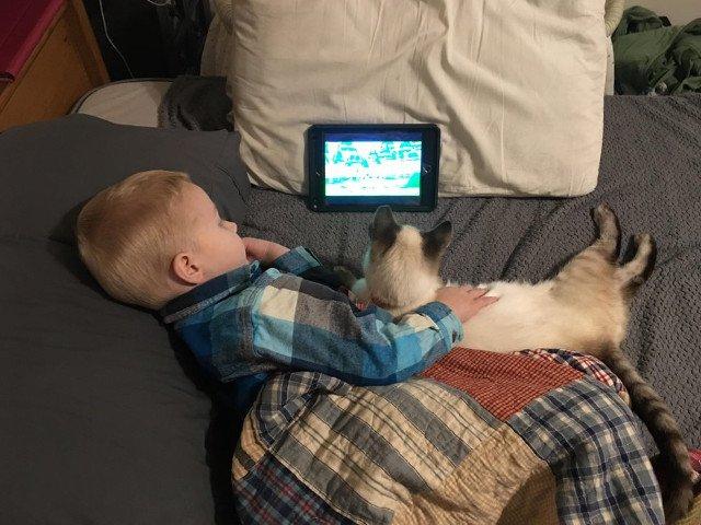 10+ imagini emotionante care surprind relatia speciala dintre copii si animalele lor de companie