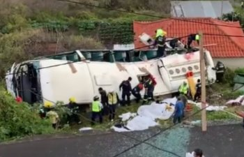 29 de turisti germani au murit intr-un accident rutier pe insula Madeira/ VIDEO