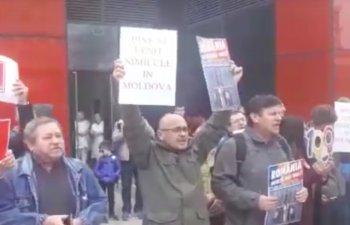 Protest la Iasi inaintea mitingului PSD/ VIDEO