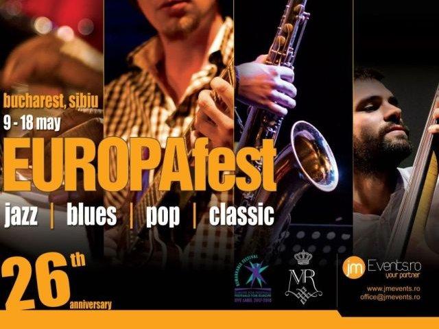 EUROPAfest 26 debuteaza pe 9 mai. Zece zile de jazz, blues, pop si clasic