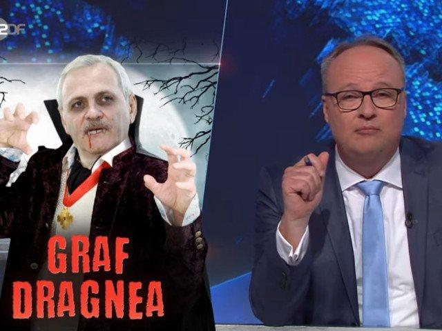 Liviu Dragnea, prezentat parodic ca un vampir corupt, la televiziunea publica din Germania/ VIDEO