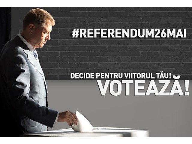 Iohannis indeamna romanii sa mearga la referendum: Votati 'Da' si nu-i lasati pe altii sa decida in locul vostru!