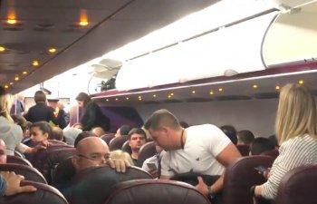Bataie la bordul unui avion Wizz Air spre Budapesta, dupa ce un pasager beat a refuzat sa se intoarca la locul sau