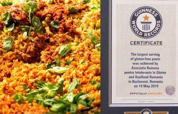 Romania a intrat in Cartea Recordurilor cu cea mai mare portie de paste fara gluten/ FOTO