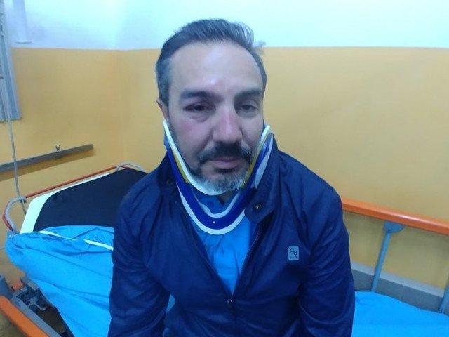 Presedintele USR Mehedinti, batut in timp ce impartea pliante: Violenta este ultimul refugiu al incompetentilor si al hotilor