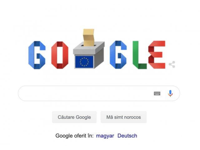 Google marcheaza ziua alegerilor europarlamentare din Romania printr-un doodle special